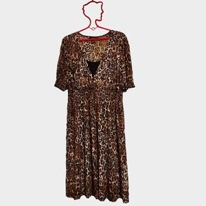 Style and Co animal print dress plus size